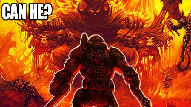 Can The Doom Slayer Actually Survive In The Warhammer 40K Universe?