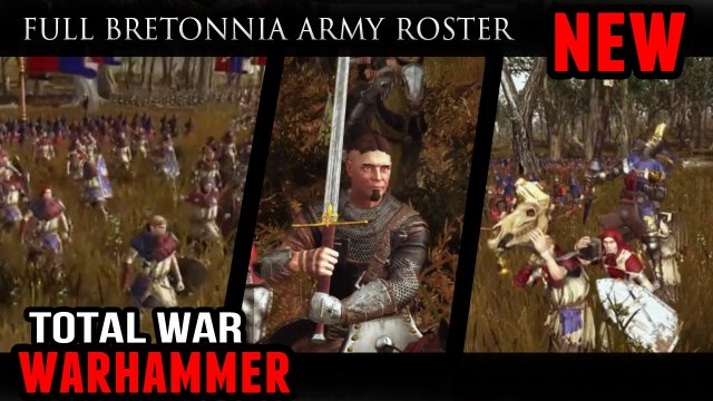 Total War: Warhammer - Full Bretonnia Army Roster (Battle Gameplay)