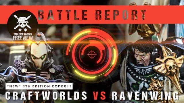 Warhammer 40k Battle Report: *NEW CODEX* Eldar Craftworlds vs Ravenwing 2000pts