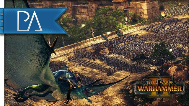 Total War: WARHAMMER 2 Gameplay - Lizardmen vs High Elves